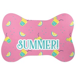 Summer Lemonade Bone Shaped Dog Food Mat (Personalized)