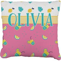 "Summer Lemonade Faux-Linen Throw Pillow 26"" (Personalized)"