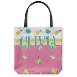 Summer Lemonade Canvas Tote Bag (Personalized)