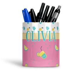 Summer Lemonade Ceramic Pen Holder
