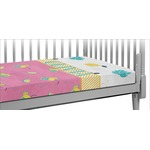 Summer Lemonade Crib Fitted Sheet (Personalized)