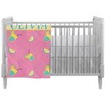 Summer Lemonade Crib Comforter / Quilt (Personalized)