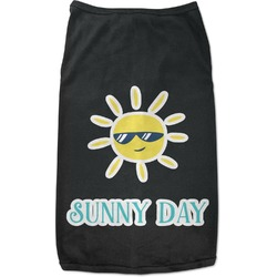 Summer Lemonade Black Pet Shirt (Personalized)
