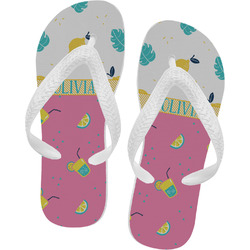Summer Lemonade Flip Flops (Personalized)