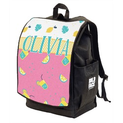 Summer Lemonade Backpack w/ Front Flap  (Personalized)