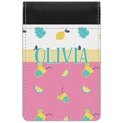 Summer Lemonade Genuine Leather Small Memo Pad (Personalized)