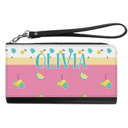 Summer Lemonade Genuine Leather Smartphone Wrist Wallet (Personalized)