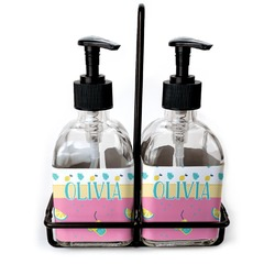 Summer Lemonade Soap & Lotion Dispenser Set (Glass) (Personalized)