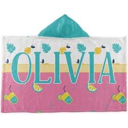 Summer Lemonade Kids Hooded Towel (Personalized)