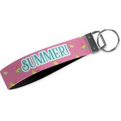 Summer Lemonade Wristlet Webbing Keychain Fob (Personalized)