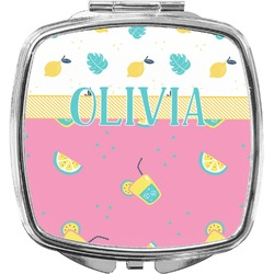 Summer Lemonade Compact Makeup Mirror (Personalized)