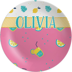 Summer Lemonade Melamine Plate (Personalized)