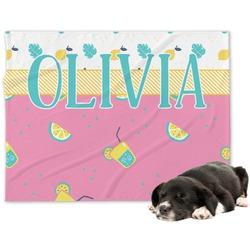 Summer Lemonade Minky Dog Blanket (Personalized)