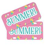 Summer Lemonade Mini/Bicycle License Plates (Personalized)