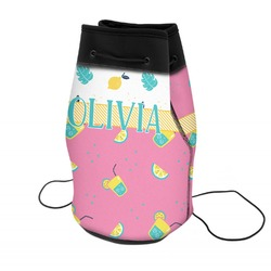 Summer Lemonade Neoprene Drawstring Backpack (Personalized)