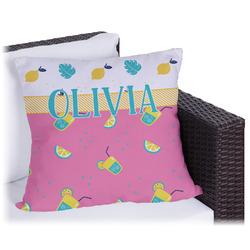 Summer Lemonade Outdoor Pillow (Personalized)