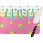 Summer Lemonade Rectangular Glass Cutting Board (Personalized)