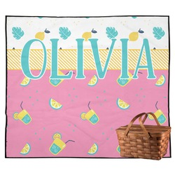 Summer Lemonade Outdoor Picnic Blanket (Personalized)