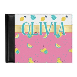 Summer Lemonade Genuine Leather Guest Book (Personalized)