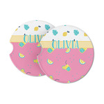 Summer Lemonade Sandstone Car Coasters (Personalized)