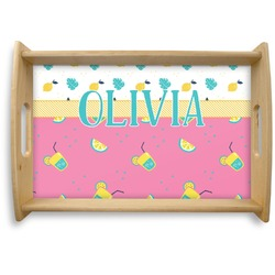 Summer Lemonade Natural Wooden Tray - Small (Personalized)