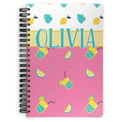 Summer Lemonade Spiral Bound Notebook (Personalized)