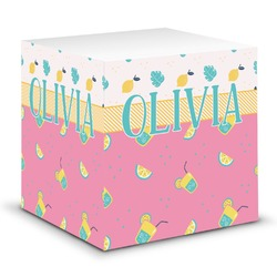 Summer Lemonade Sticky Note Cube (Personalized)