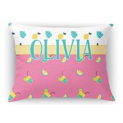 Summer Lemonade Rectangular Throw Pillow Case (Personalized)