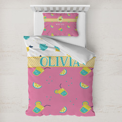Summer Lemonade Toddler Bedding w/ Name or Text