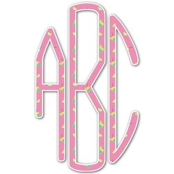Summer Lemonade Monogram Decal - Custom Sizes (Personalized)