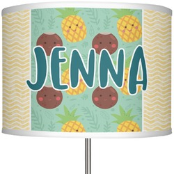 """Pineapples and Coconuts 13"""" Drum Lamp Shade (Personalized)"""