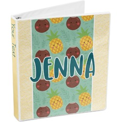 Pineapples and Coconuts 3-Ring Binder (Personalized)