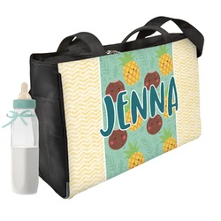 Pineapples and Coconuts Diaper Bag (Personalized)