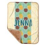 "Pineapples and Coconuts Sherpa Baby Blanket 30"" x 40"" (Personalized)"