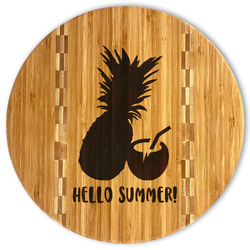Pineapples and Coconuts Bamboo Cutting Board (Personalized)
