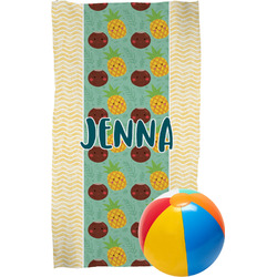 Pineapples and Coconuts Beach Towel (Personalized)
