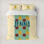 Pineapples and Coconuts Duvet Cover (Personalized)