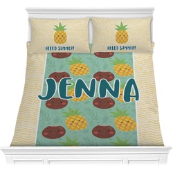 Pineapples and Coconuts Comforter Set (Personalized)