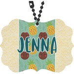 Pineapples and Coconuts Rear View Mirror Decor (Personalized)
