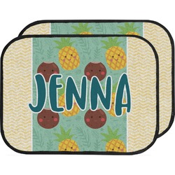 Pineapples and Coconuts Car Floor Mats (Back Seat) (Personalized)