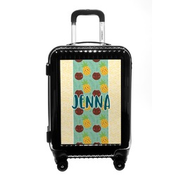 Pineapples and Coconuts Carry On Hard Shell Suitcase (Personalized)