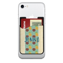 Pineapples and Coconuts Cell Phone Credit Card Holder (Personalized)