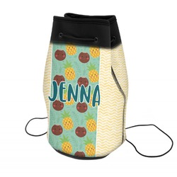 Pineapples and Coconuts Neoprene Drawstring Backpack (Personalized)