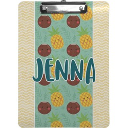 Pineapples and Coconuts Clipboard (Personalized)