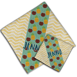 Pineapples and Coconuts Cloth Napkin w/ Name or Text