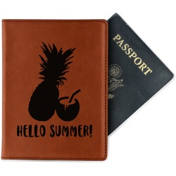 Pineapples and Coconuts Leatherette Passport Holder (Personalized)