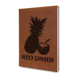 Pineapples and Coconuts Leatherette Journal (Personalized)