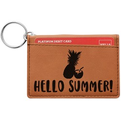 Pineapples and Coconuts Leatherette Keychain ID Holder (Personalized)