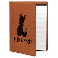 Pineapples and Coconuts Leatherette Portfolio with Notepad (Personalized)
