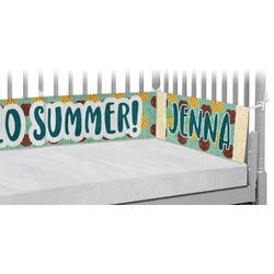 Pineapples and Coconuts Crib Bumper Pads (Personalized)